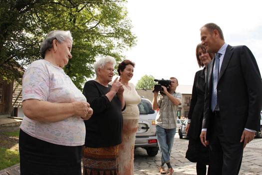 Spotkanie premiera z mieszkańcami Lanckorony