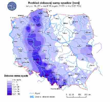Ocena aktualnej i prognozowanej sytuacji  hydrologicznej  01.07.2011