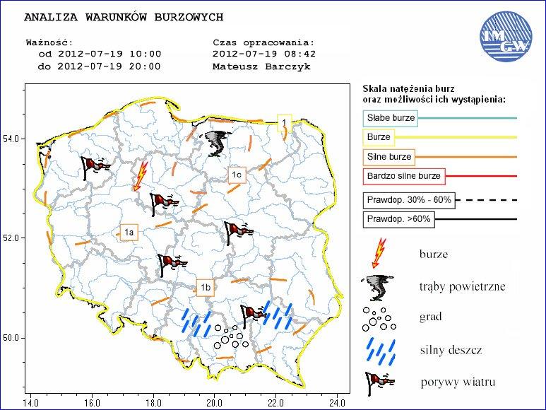 Warunki burzowe dla Polski