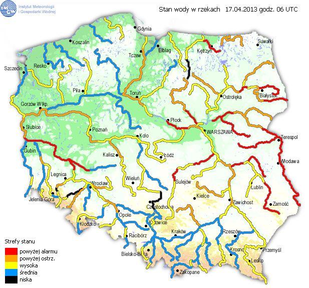 Ocena aktualnej sytuacji hydrologicznej na okres 17.03 do 20.04.2013